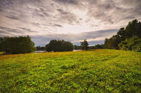 Landscape in the morning light