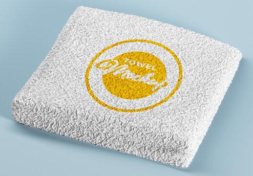 Soft Terry Cloth Towel Mockup