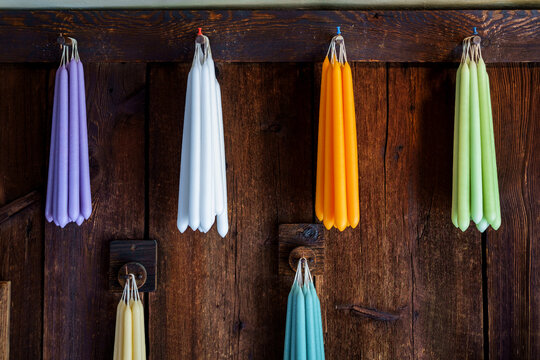 Colorful Hanging Taper Candles