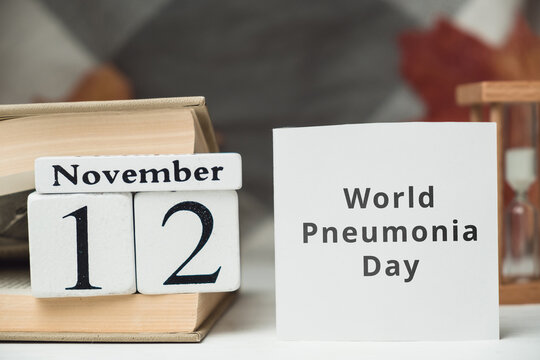 World Pneumonia Day of autumn month calendar November