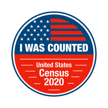 I participated and I was counted in the USA census 2020 sticker and badge