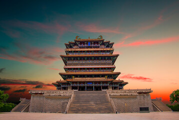 One of the four famous buildings in ancient China: Guanque tower.