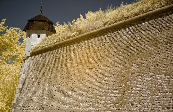 Fortress of Komárno, in Slovakia, is the central part of the Komárno fortification system. IR Photo.