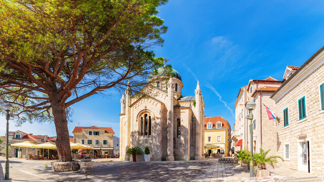 Church of St. Jerome  in the old town of Herceg Novi, Montenegro