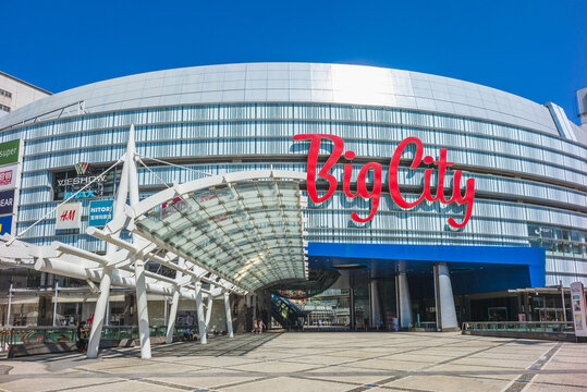 October 15, 2020: Big city shopping mall in hsinchu, taiwan. It is the largest shopping center in Northern Taiwan that offers more than 600 brands, 70 dining choices, cinemas, and bookstores