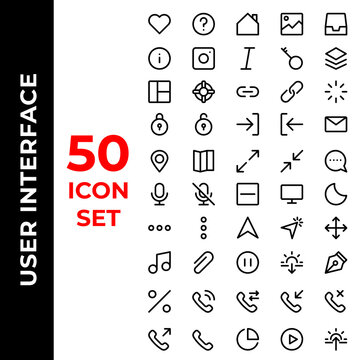 user interface icon set include love,help,home,image,in box,info,italic,key,layer,layout,life buoy,link,hyperlink,loader,padlock,log in,log out,mail,map,maximize,message,mic,podcast,minus,monitor,moon