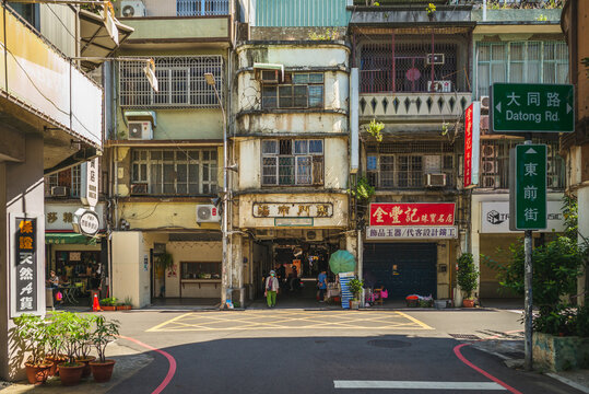 October 15, 2020: Dongmen Market, a public traditional retail market located in Hsinchu City, taiwan. It was founded in 1900, once was become the largest market in Taiwan and rebuilt in 1977.