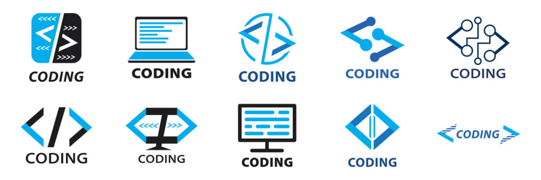 Vector logo of coding and it companies