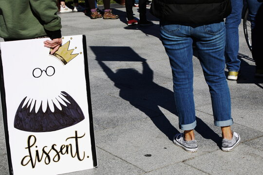 Protesters take part in a Women's March In Philadelphia