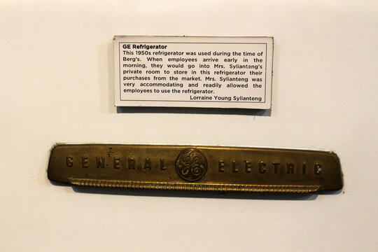General Electric refrigerator logo at First united building museum in Escolta, Manila, Philippines