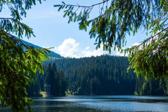 Beautiful mountain lake in the mountains. Synevyr. Ukraine.