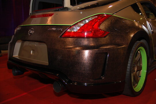 Nissan 350Z at Manila Auto Salon on November 27, 2011 in SMX Convention Center, Pasay, Philippines.