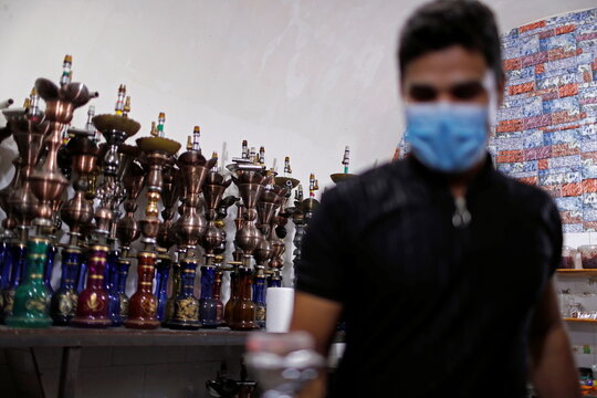 Shisha bar in Baghdad develop disinfection technique to win back customers