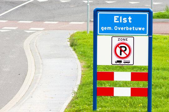 Place name sign of Elst, Netherlands