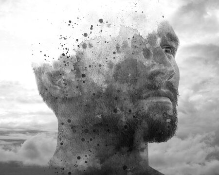 Creative photo manipulation of a portrait