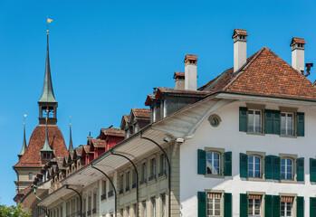 Fototapete - Historical residential building in Bern, Switzerland
