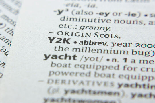 Word or phrase Y2k in a dictionary.