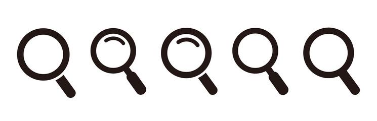Obraz glass icon illustration inspect vector - fototapety do salonu