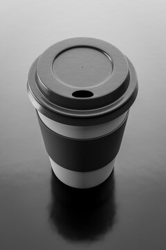 black on black coffee to go cup