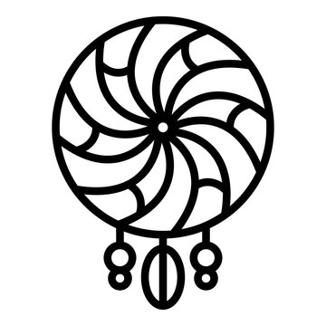 Tribal dream catcher icon. Outline tribal dream catcher vector icon for web design isolated on white background