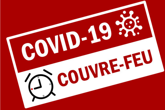 Couvre-Feu Covid-19 Rouge