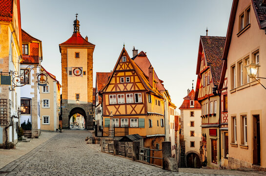 Historische Altstadt in rothenburg ob der Tauber