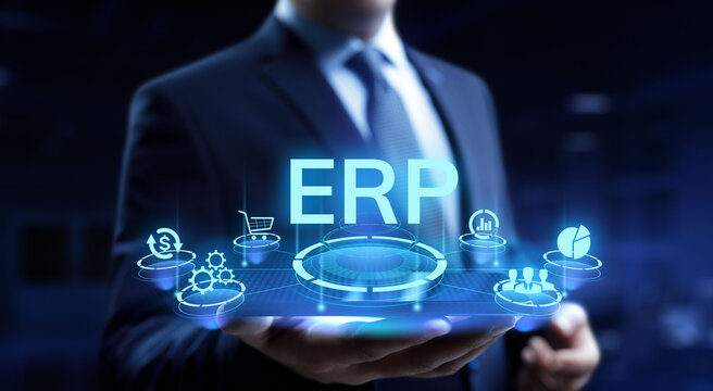ERP enterprise resource planning business internet technology concept.