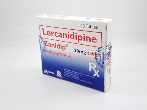 Lercanidipine Zanidip antihypertensive tablet in Manila, Philippines