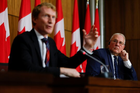 News conference about the dispute between commercial and Mi'kmaw lobster fishers in Nova Scotia, on Parliament Hill in Ottawa