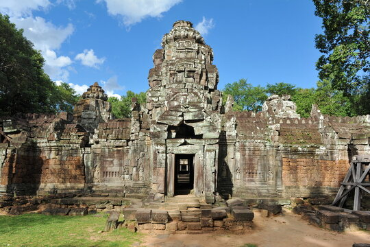 temple at angkor wat complex in cambodia
