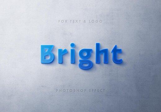Light Box 3D Text Effect Mockup
