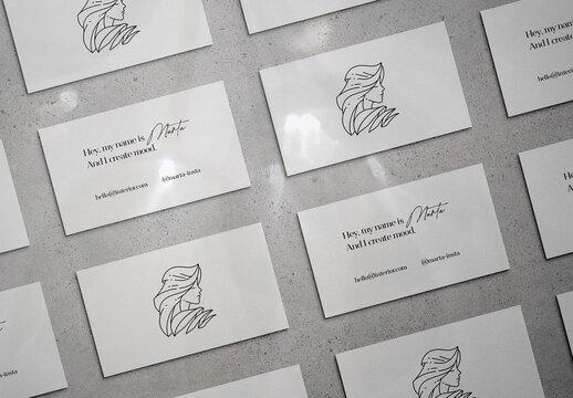Elegant Business Card Mockup Scene