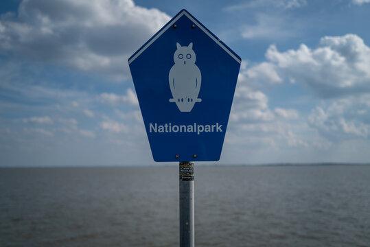 A Nationalpark sign in Wilhelmshaven
