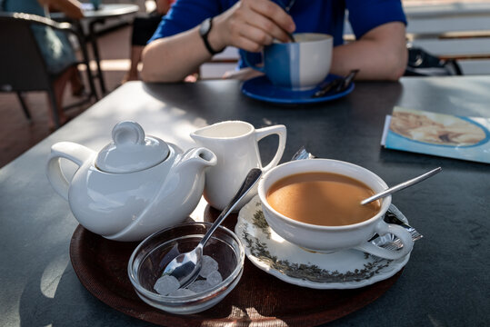 Traditional tea in Wilhelmshaven, Germany