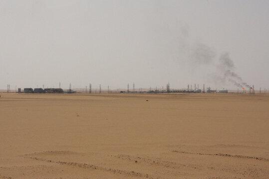 View shows Sharara oil field near Ubari