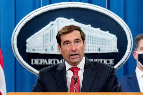 News conference at the Department of Justice in Washington