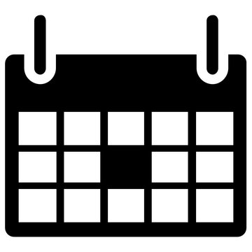 A sheet with small boxes depicting calendar