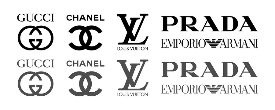 Gucci. Top most popular clothing brands: gucci, chanel, louis vuitton, prada, armani. Editorial vector illustration. Vinnitsa, Ukraine - October 19, 2020