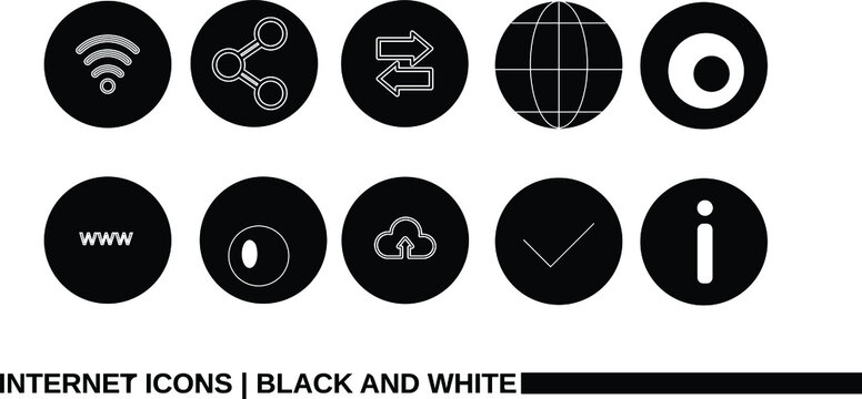 Internet Icons   Black and White