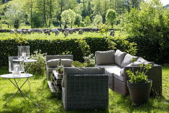 sevarac d'aveyron, jardins, meubles de jardin
