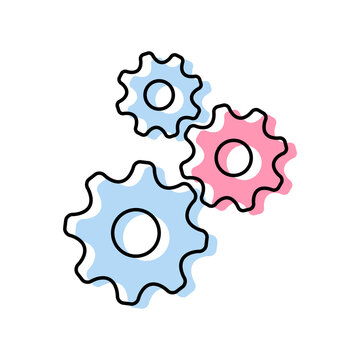 Gear vector icon on white background