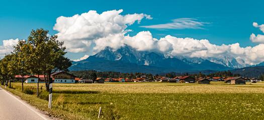 Photo sur Plexiglas Bleu jean Beautiful alpine summer view near Mittenwald, Bavaria, Germany