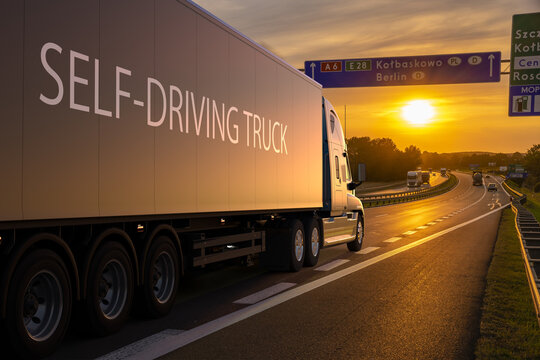 American truck in autonomous driving version