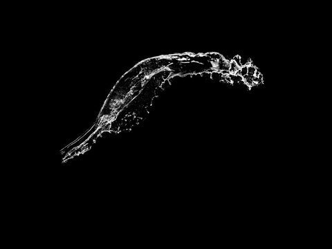 Stock image of water splash: High resolution water splashes isolated on black background. Royalty high-quality free stock photo image of water splash with bubbles of air on the black background