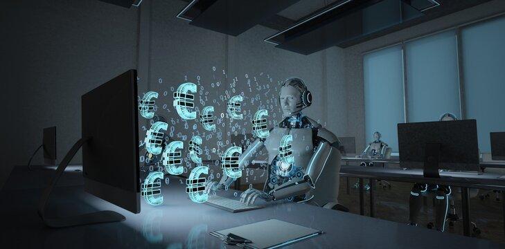 Humanoider Roboter als Trader