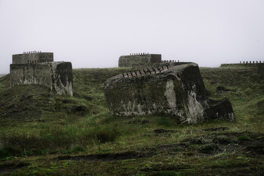 moody image of ruins of a building in iceland