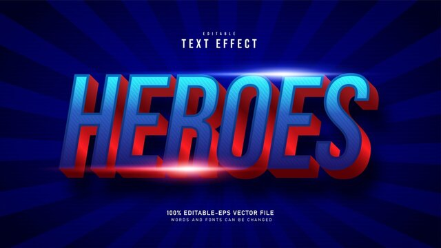 Super Hero Text Effect