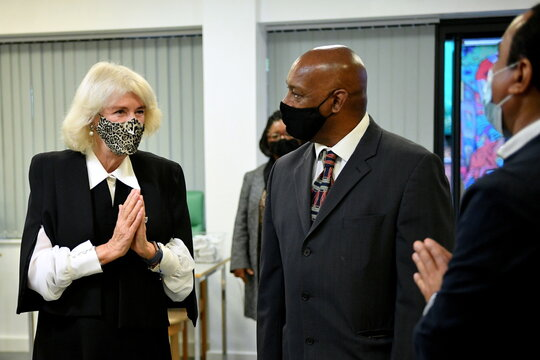 Britain's Camilla, Duchess of Cornwall visits the Pepper Pot Centre in London