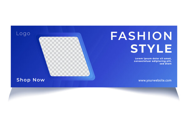 Fashion sale facebook cover and square banner template