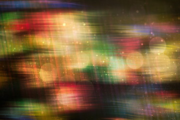 Fototapeta Christmas lights. Gold Holiday New year Abstract Glitter Defocused Background With Blinking Stars and sparks.